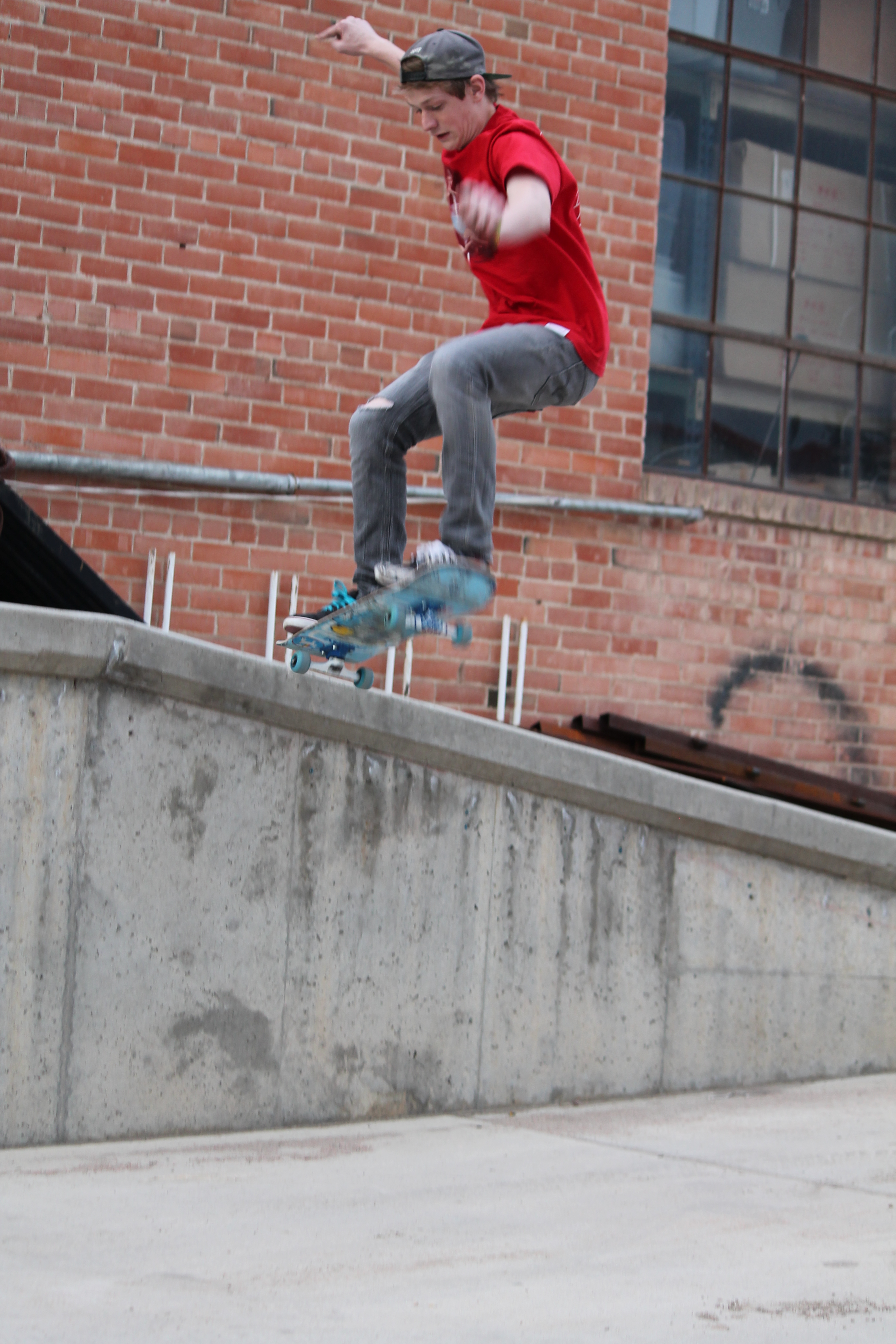 Cameron Moser makes the most of Eaton's back alleys in place of a skate park