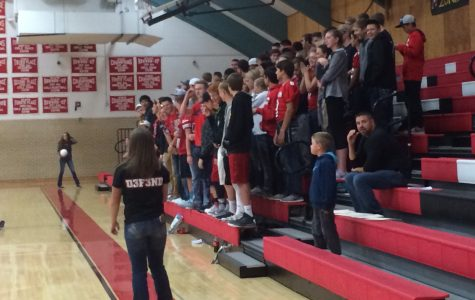 """""""Red Strong"""" group attends first sports game"""