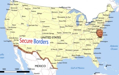 One side of the border