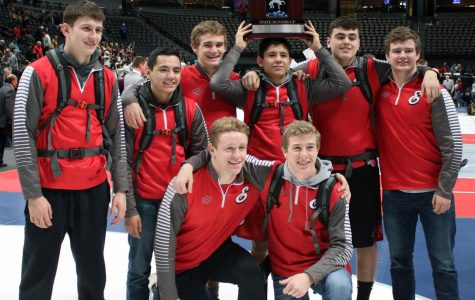 Wrestling places second at state