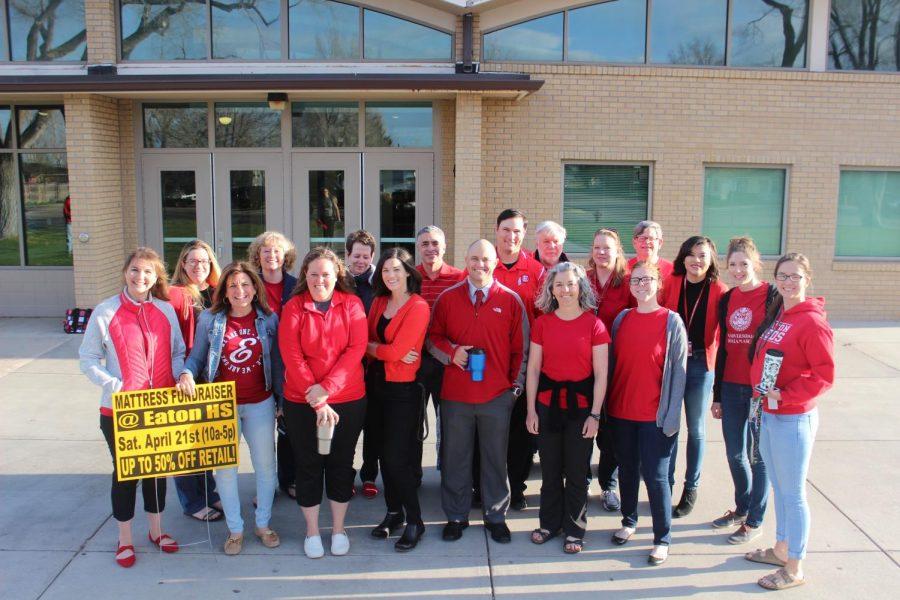 "Teachers wear ""Red for Ed"""