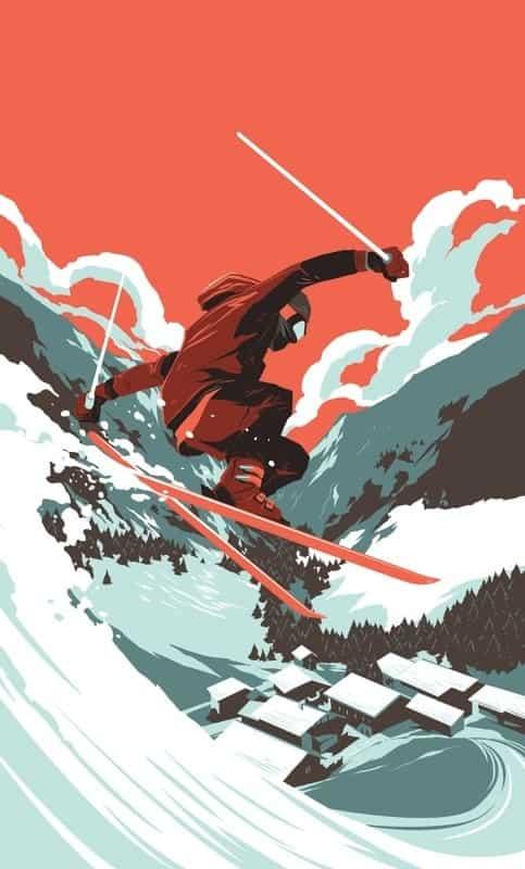 Skiing alone