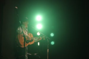 Wahlert performs for the community on November 11.