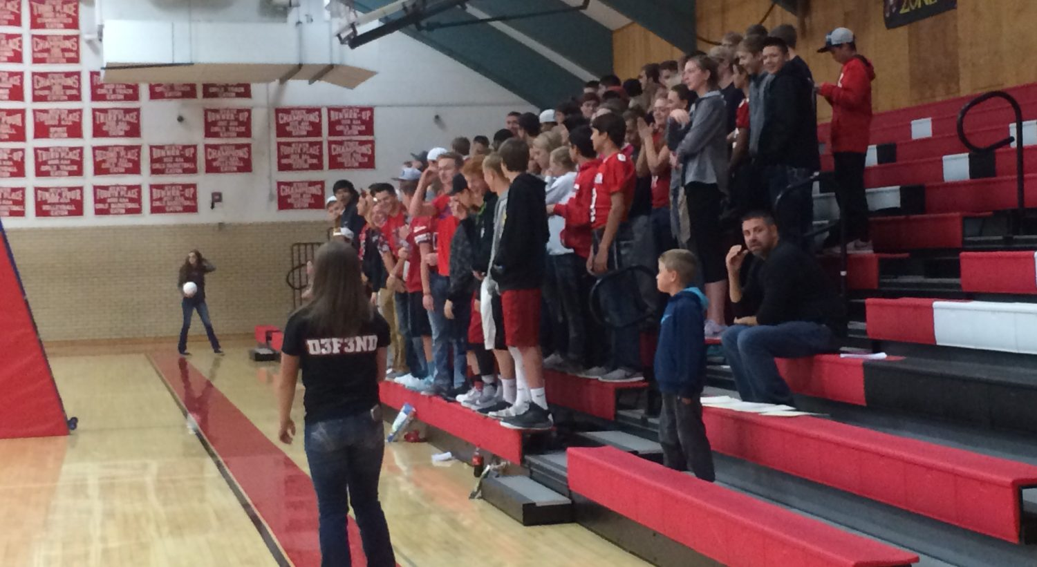 Red Strong group attends first sports game