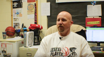 Basketball coach Dean Grable provides mascot perspective