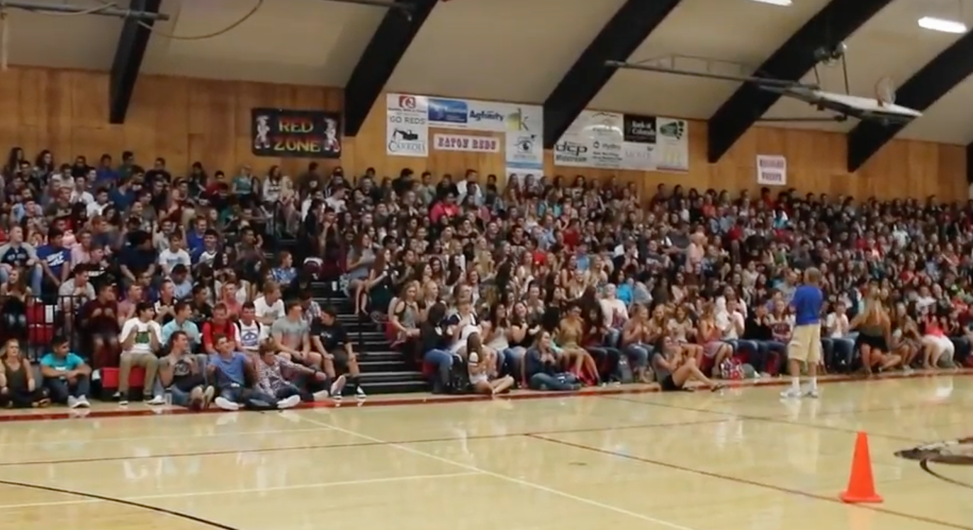 EHS returns to school with first-day assembly