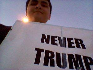 Isaiah Cordova electioneering on Nov. 8