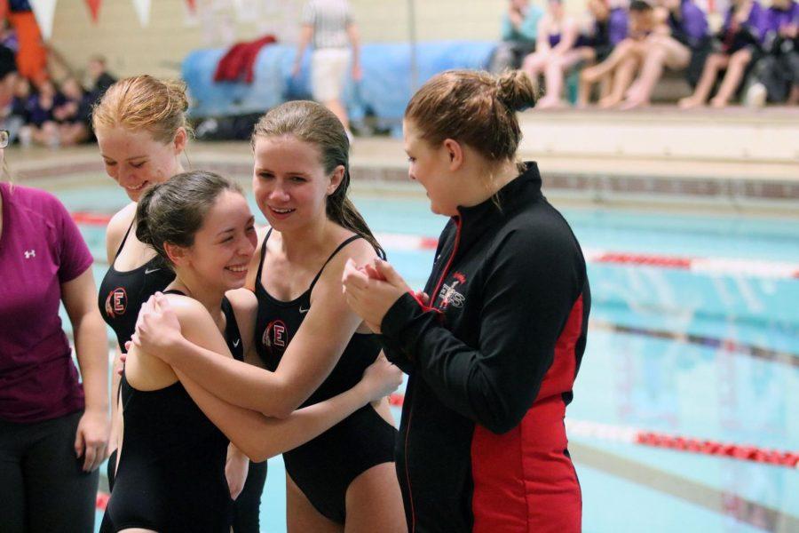 Girls swim team commemorates seniors