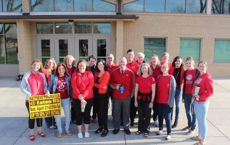 "Teachers wear ""Red for Ed"""