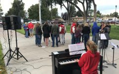Students observe national day of prayer around EHS flagpole