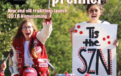 Student celebrate the 2018 homecoming parade