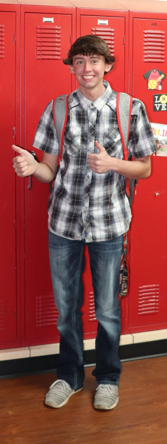 Trevor+McDaniel+%2820%29+wear+a+plaid+short+sleeve+shirt+a+piece+that+never+goes+out+of+style+with+proper+accessories.+