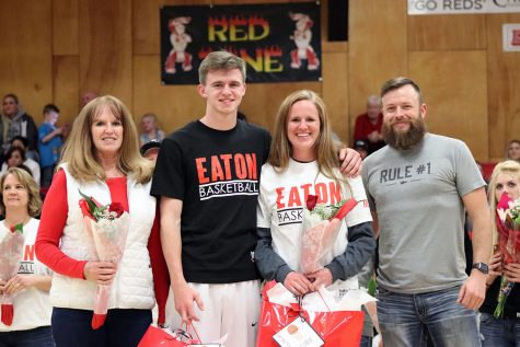 Girls basketball honors seniors before win against Liberty Common