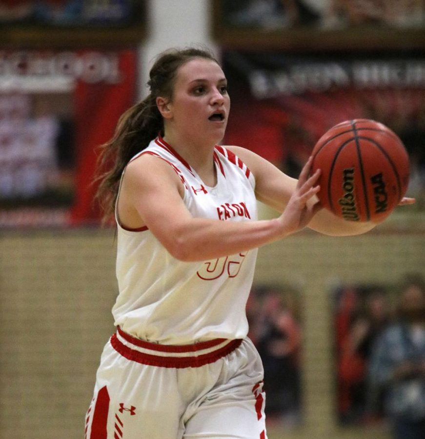 Eaton girls basketball defeats Strasburg Indians