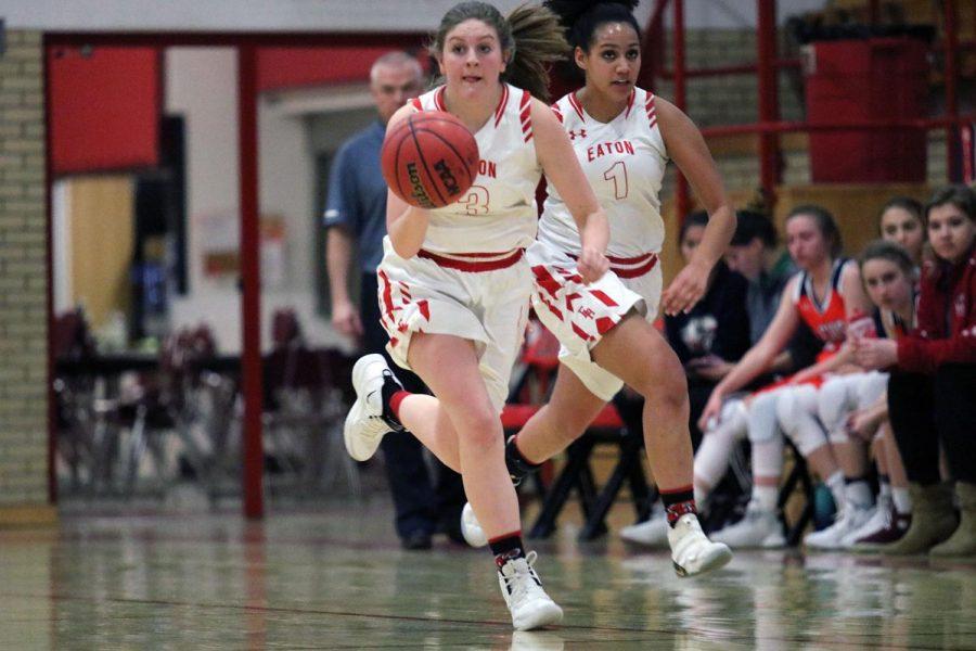 Girls basketball honors seniors before win against Liberty Common