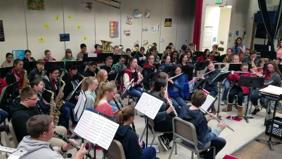 The future band at Eaton High School – Red Ink