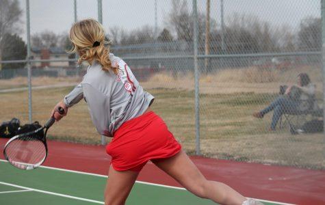 Eaton battles Holy Family Girls tennis