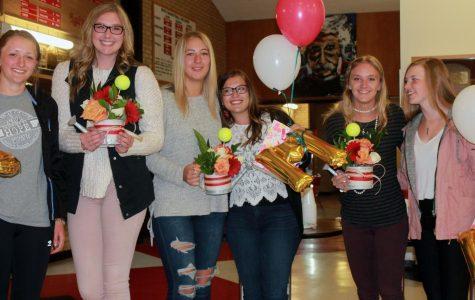 Graduating seniors honored at Girls' Tennis Night