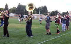 Eaton's marching band steps into first big community event