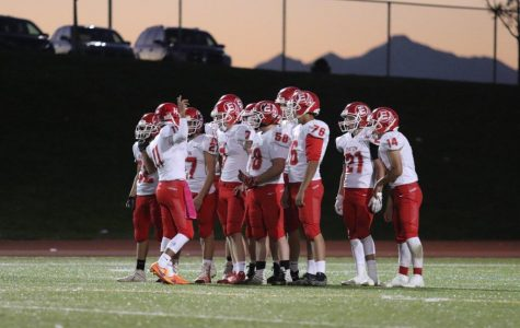 The Reds end their 2018 football season at a record of 6-3 as the sun goes down.