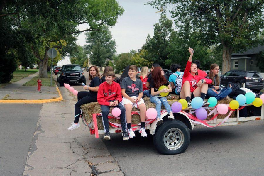 Freshman parade float