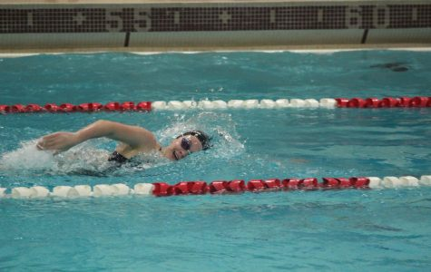 Lexi Brunt sails through water during freestyle relay.