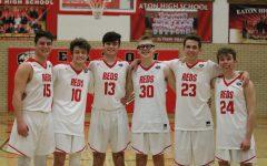 Boys basketball senior night photos