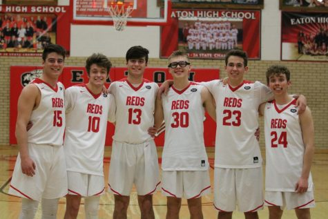 Boys basketball senior night photos