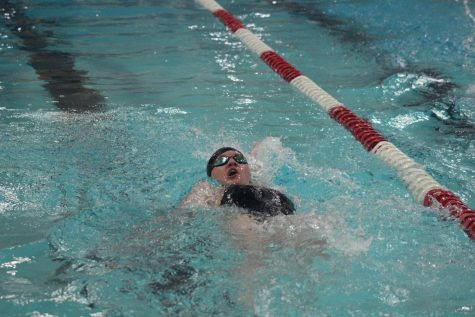 Molly Koslosky shoots across the pool during her portion of the relay.