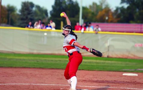 Sadie Ross (24) pitches during the second game in state
