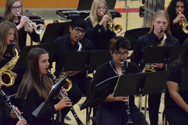Successful band concert in gymnasium