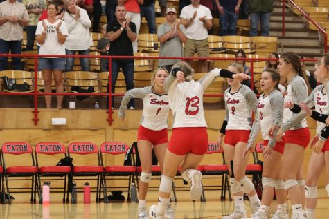 Volleyball vs. Liberty Commons photos